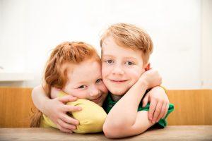 Saoirse | Siobhan | Children | Sitting | Smiling
